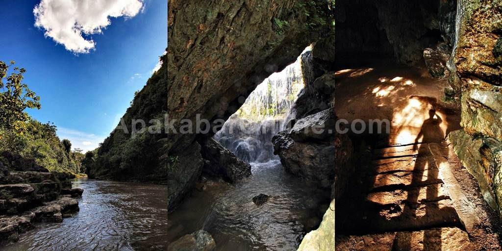 Perjalanan naik gethek melewati sungai, anda akan bertemu dengan gua.jpg