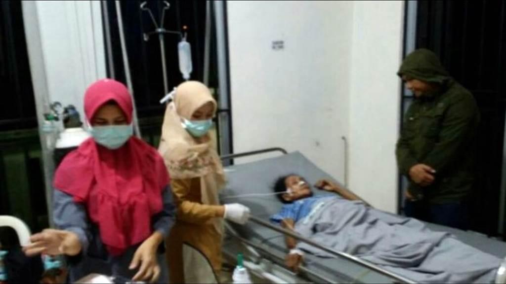 Sitiyah, Pekerja migran asal Banyuwangi yang menjadi korban penyiksaan dan penerlantaran dirawat di RSUD Embung Fatimah Batam Kepri (foto Kompas)