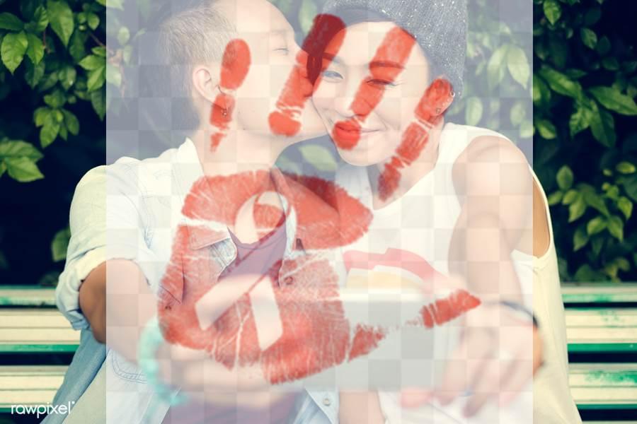 Lesbian Couple Ilustration Foto rawpixel
