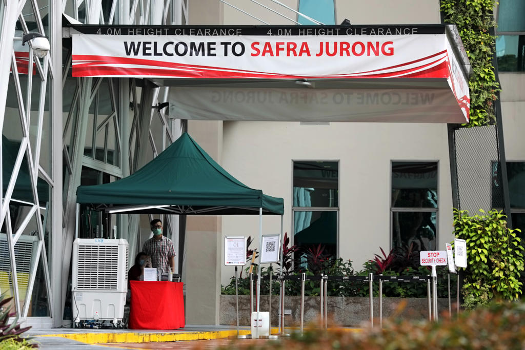 Generics of Safra Jurong, shot on March 6. A new cluster of Covid-19 cases have been linked to a private dinner function which took place in the vicinity on Feb 15. Photo: Nuria Ling/TODAY
