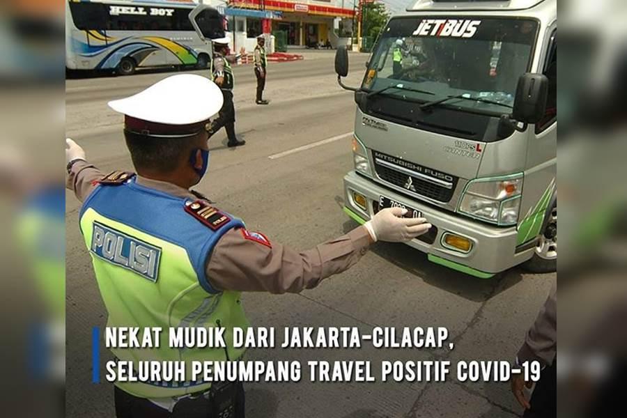 Feature Image Ngotot Mudik Pake Travel, Sampai Cilacap Seluruh Penumpang Positif Tertular COVID-19 (Foto Istimewa)