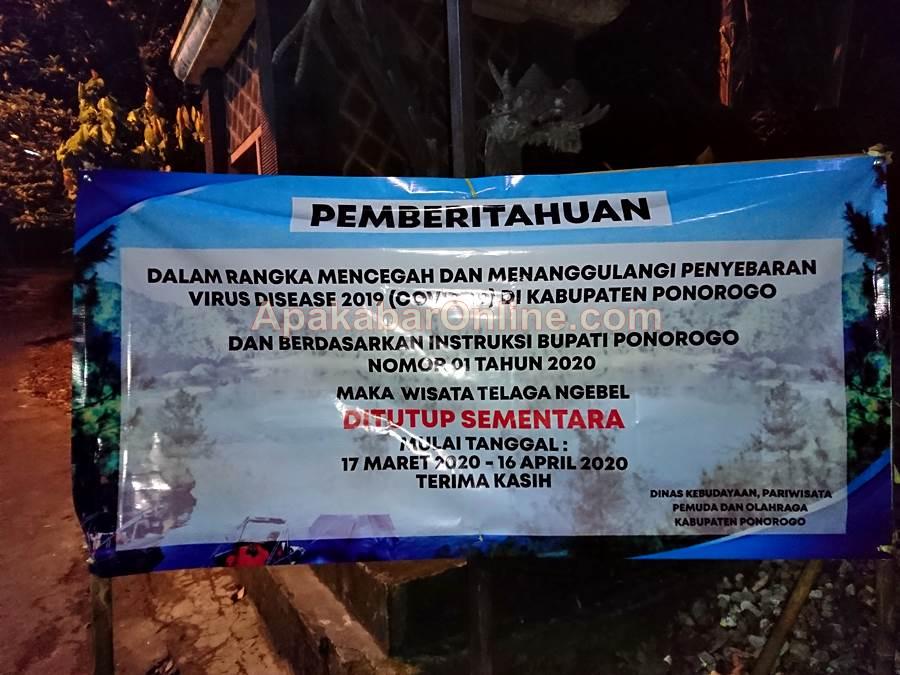 Feature Image Penutupan Objek Wisata Telaga Ngebel Diperpanjang (Foto Asa- ApakabarOnline.com)