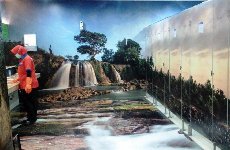 Kamar Mandi Bandara Internasional Juanda, desain 3D (Foto Istimewa)