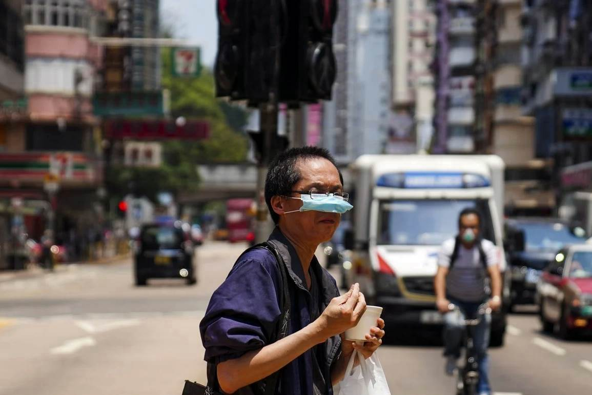 Masks have become part of essential attire among Hongkongers. (Photo Sam Tsang SCMP)