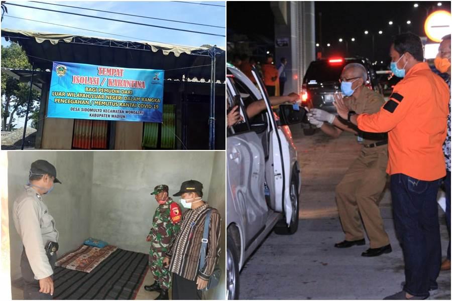 Feature Image Pasar Disulap Menjadi Lokasi Karantina COVID-19 untuk Pemudik di Madiun (Kolase Foto Istimewa)