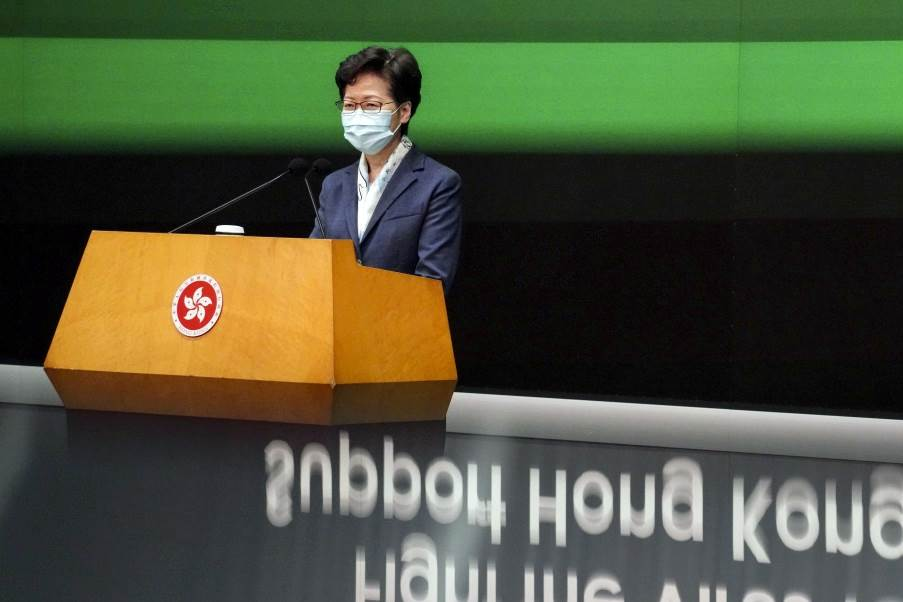 Chief Executive Hong Kong, Carrie Lam (Foto SCMP)