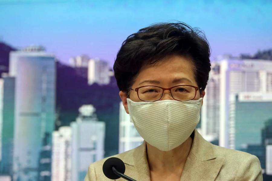 Carrie Lam says the coronavirus situation is very severe (Photo Edmond So-SCMP)