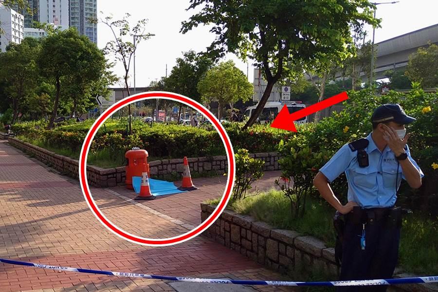 Bayi dibuang di tin shui wai (Foto HK01)