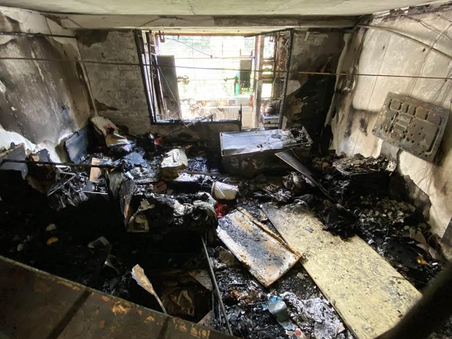 Kebakaran di Kwai Chung (Foto HK01)