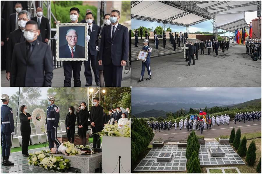 Kolase prosesi pemakaman jenazah mantan pemimpin Taiwan (Foto AP)