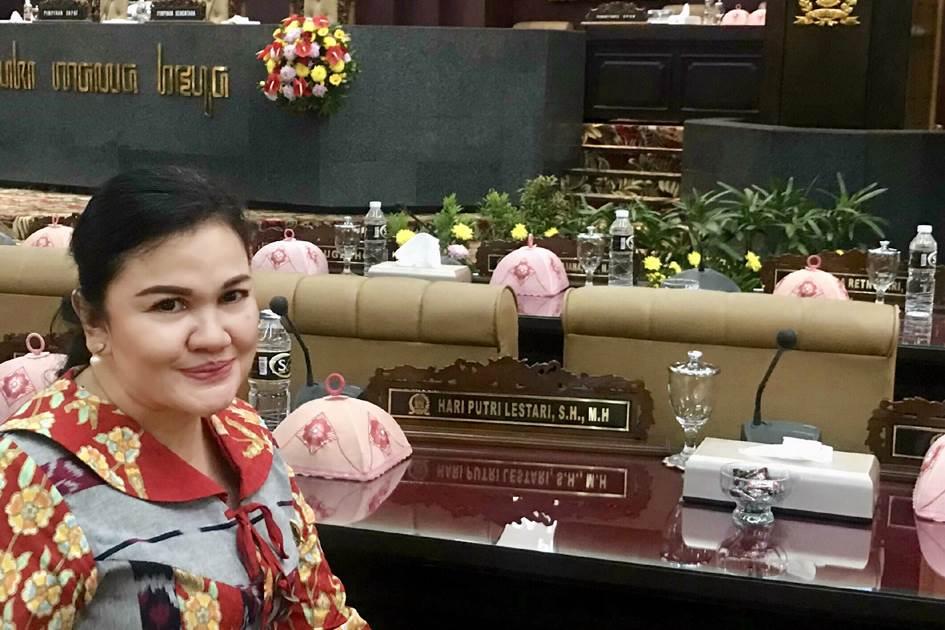 Hari Putri Lestari anggota DPRD provinsi Jatim dari fraksi PDIP (Foto Doc. Pribadi)