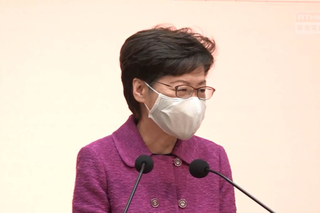 Chief Executive Hong Kong, Carrie Lam (Foto RTHK)