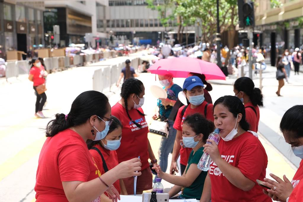 Foreign domestic helpers during pandemic (Foto HK01)