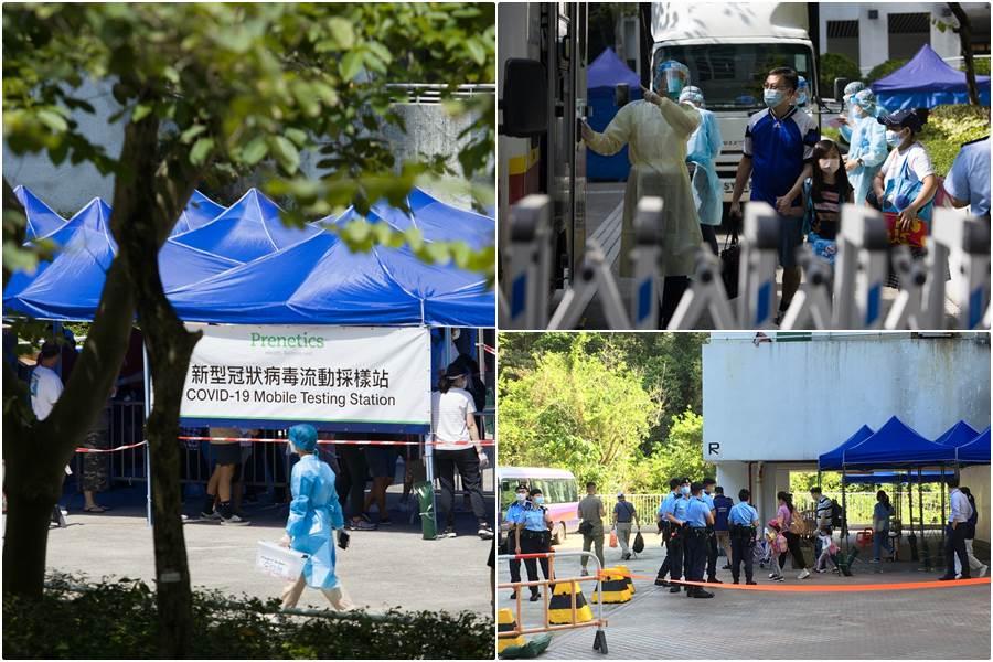 suasana evakuasi warga yang tempat huniannya ditemukan PRT asing terinfeksi virus mutan (Foto HK01)