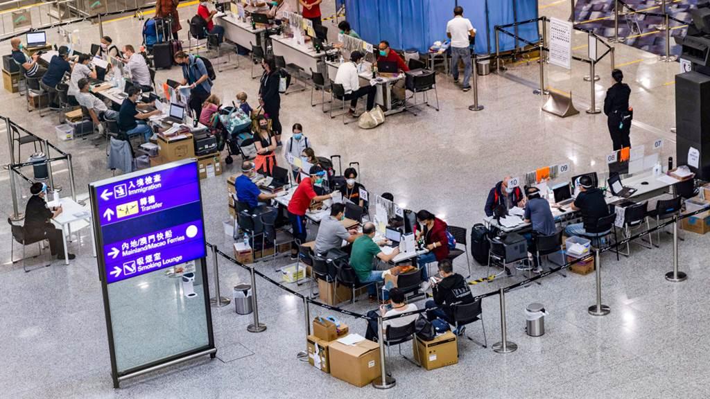 Pengetatan bandara internasional Hong Kong dibawah situasi pandemi covid-19 (Foto Istimewa)
