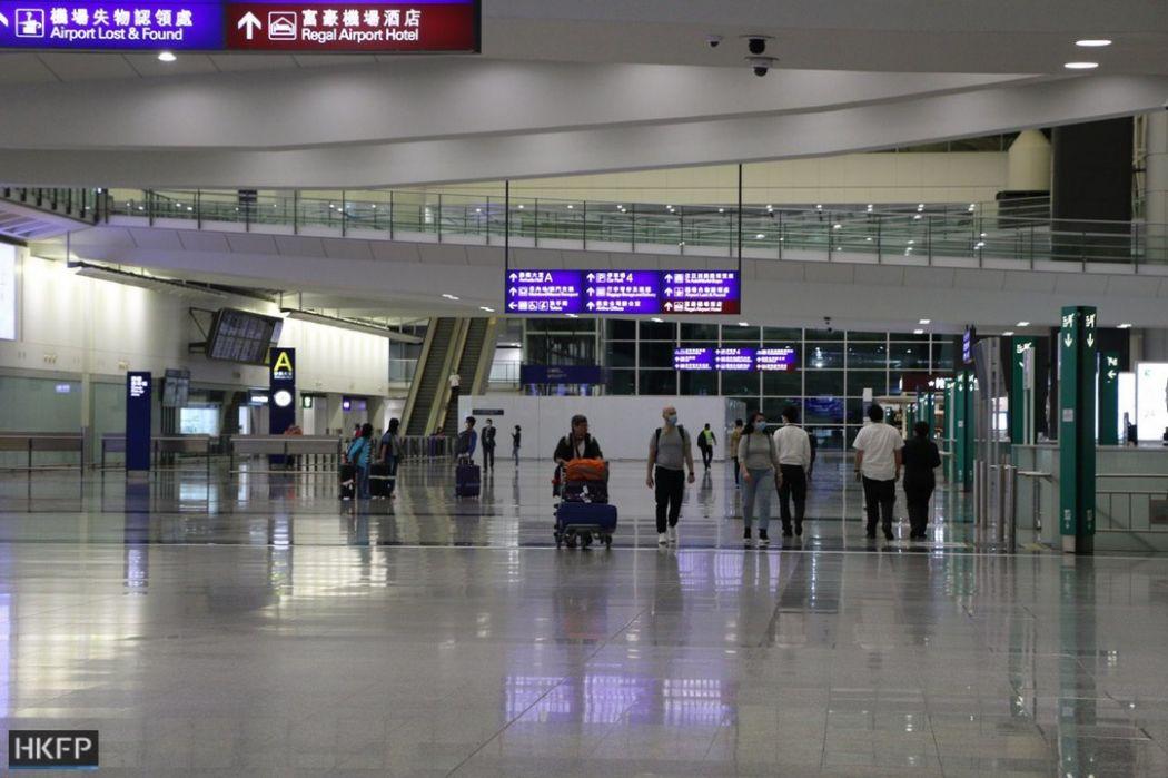 Hong Kong International Airport during pandemic (Foto HKFP)
