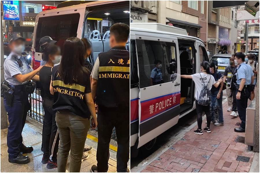 4 perempuan ditangkap dalam operasi anti pekerja ilegal di Sheung Wan (Foto Istimewa)