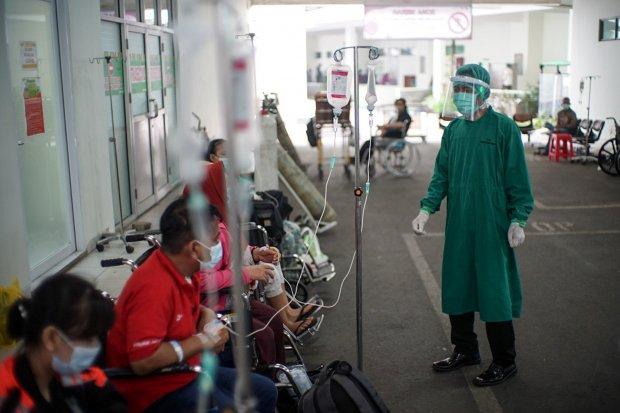Lonjakan pasien positif corona di RSUD Cengkareng (Foto Istimewa)