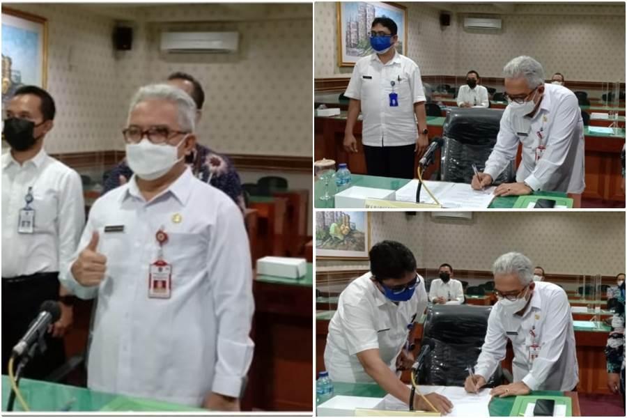 Penandatanganan Mou Pemprov Jatim dengan Jepang (Foto Kominfo Prov Jatim)