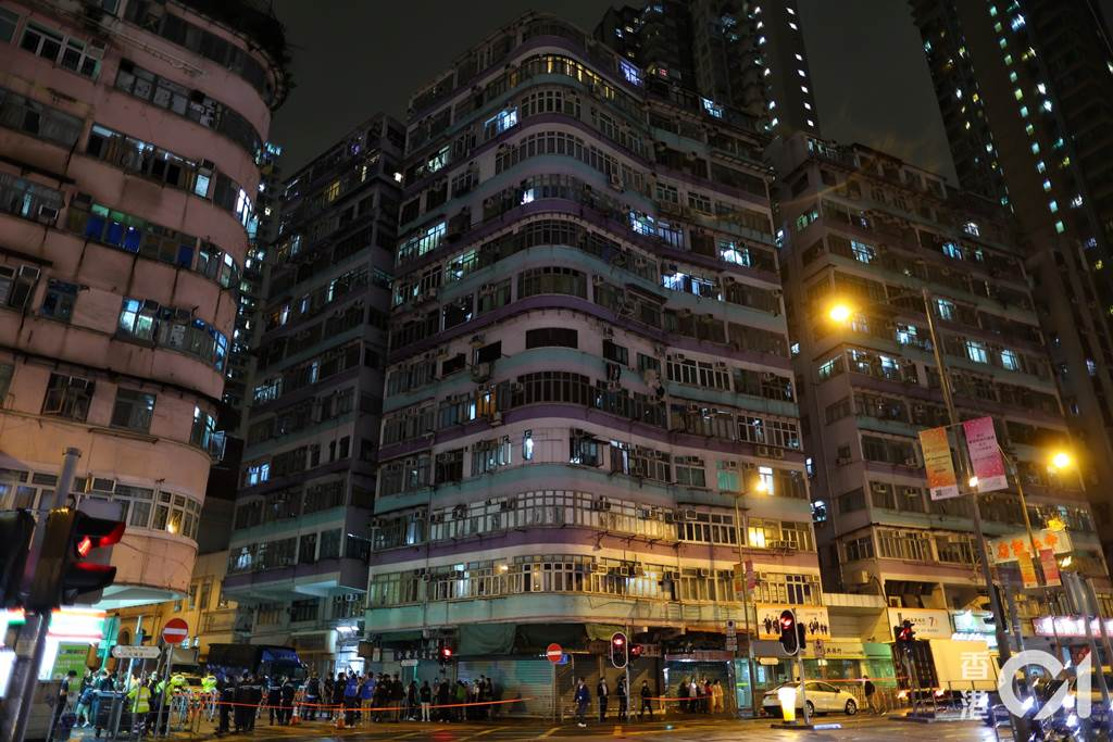 Kawasan Gedung East House, Sham Shui Po tempat pasien lokal tinggal (Foto HK01)
