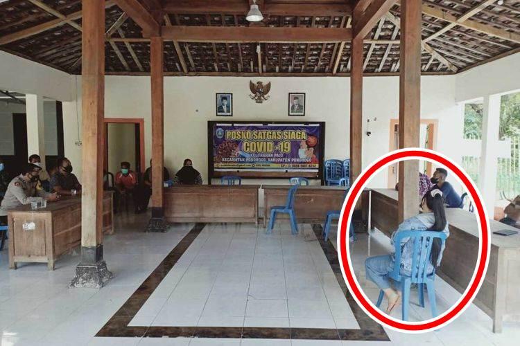 LEW Saat diedukasi oleh aparat Kepolisian, TNI dan perangkat Kelurahan Paju (Foto Istimewa)