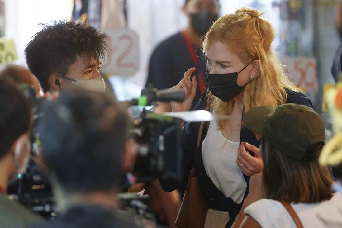 Hollywood star Nicole Kidman was spotted in Mong Kok filming for the new Amazon drama series Expats. (Photo Winson Wong-SCMP)
