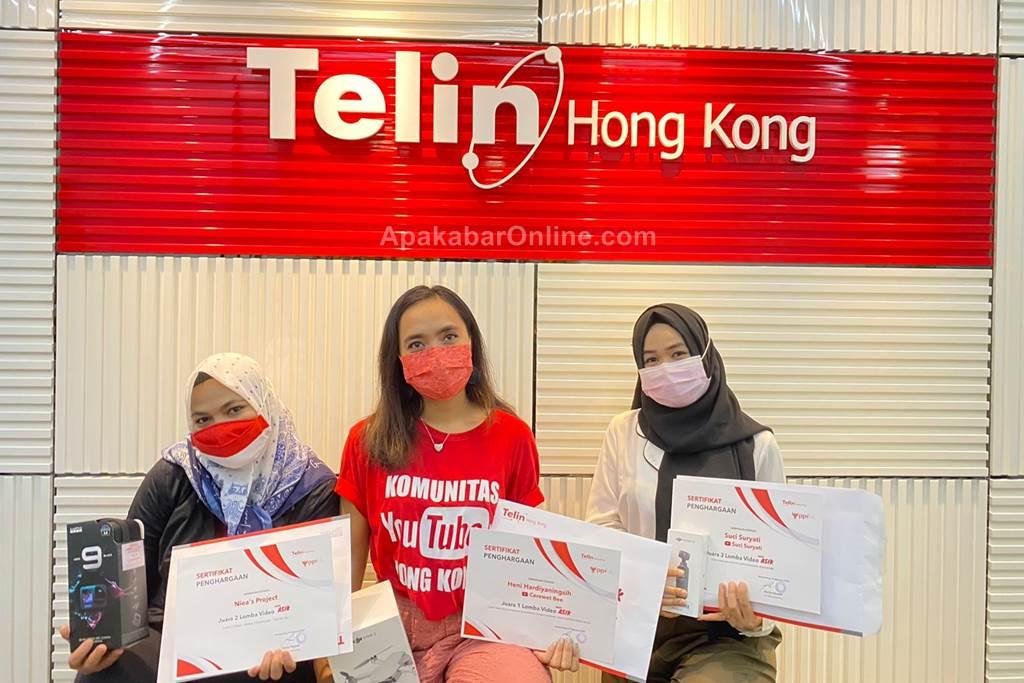 Pemenang Lomba Kreasi Video Asik Telin HK Dalam Rangka Memperingati HUT RI 2021 (Foto Wiji - ApakabarOnline.com)