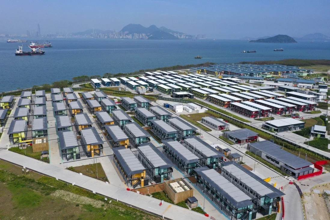 Penny's Bay quarantine centre for foreign domestic worker in Hong Kong (Foto SCMP)