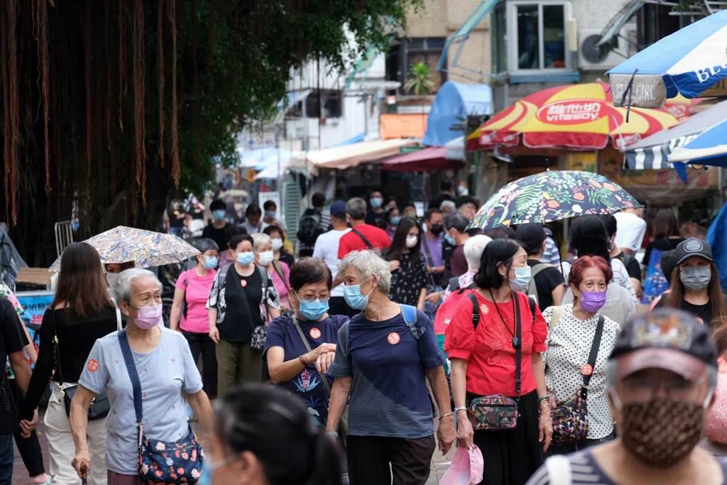 Situasi Hong Kong paska serangan Topan Lion Rock hari ini, 10 Oktober 2021 (Foto HK01)