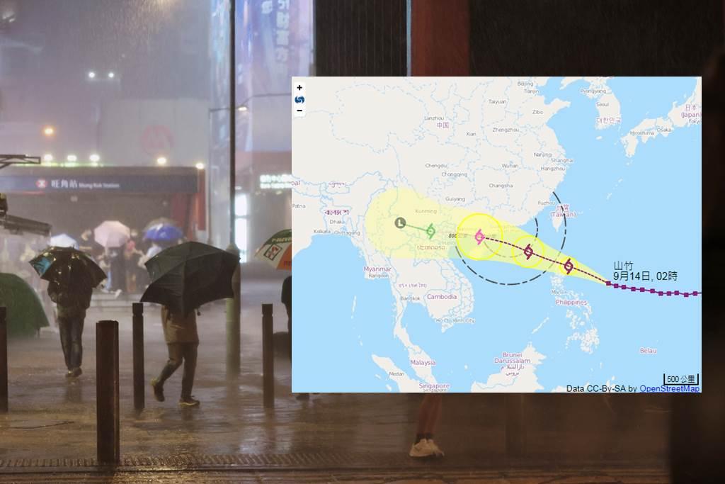 Topan Kompasu akan menerpa Hong Kong mulai Selasa (ilustrasi HK01)