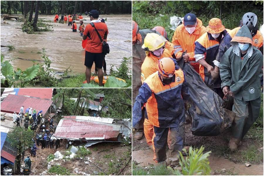 Topan Kompasu di Filipina menewaskan 9 orang, 16 dinyatakan hilang (Foto AP)